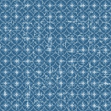 Seamless vintage blue Japanese style round pattern background. Stock Photo