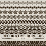 Seamless vintage border Stock Photo