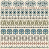 Seamless vintage border pattern stock illustration