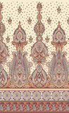 Seamless vintage border with traditional Asian design elements