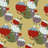 Seamless vintage broken balls christmas pattern Stock Images