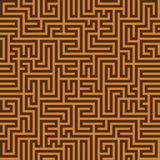 Seamless vintage brown pattern. Ethnic vector textured Greek bac Stock Images