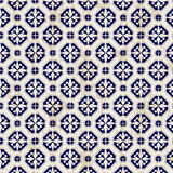 Seamless vintage Chinese blue and white porcelain diamond round pattern background. Royalty Free Stock Photos