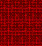 Seamless Vintage Chinese style window tracery diamond geometry pattern background. Royalty Free Stock Photography