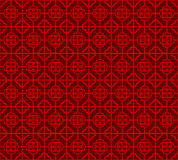 Seamless Vintage Chinese window tracery square flower pattern background. Royalty Free Stock Photo