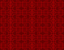 Seamless vintage Chinese window tracery square round diamond pattern background. Royalty Free Stock Photography