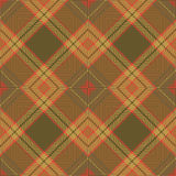 Seamless vintage color Scotland diamond check crossed line pattern background. Stock Images