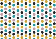 Seamless vintage colour tone round dot pattern illustration vector stock photo