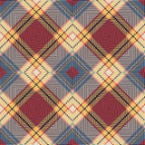 Seamless vintage colourful Scotland  diamond check crossed line pattern background. Stock Images