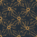 Seamless vintage cute flower vector pattern background Stock Photos