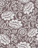 Seamless vintage damask floral design pattern royalty free illustration