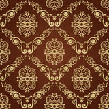 Seamless vintage decor wallpaper background Royalty Free Stock Photography