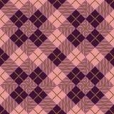Seamless vintage diamond check pattern background Royalty Free Stock Photos