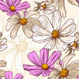 Seamless vintage floral background Stock Image
