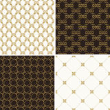 Seamless vintage floral background gold and black pattern Royalty Free Stock Photos
