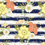 Seamless vintage floral background Stock Images