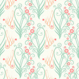 Seamless vintage floral ornament Royalty Free Stock Images