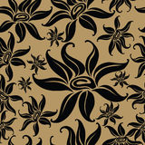 Seamless vintage floral pattern. Seamless vintage beige pattern with flowers (From my big Seamless collection Royalty Free Stock Image