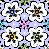 Seamless vintage floral pattern Stock Photo