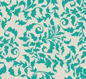 Seamless vintage floral pattern Stock Photos