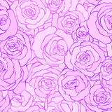 Seamless vintage floral pattern background with flowers of rose . vector illustration in pink colors. Design for fabrics Royalty Free Stock Photography