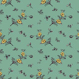 Seamless vintage floral pattern Stock Photos