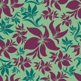 Seamless vintage floral pattern with lilly Stock Photography
