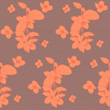 Seamless vintage floral pattern with mock orange Royalty Free Stock Photos