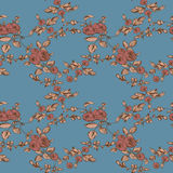 Seamless vintage floral pattern rose Stock Image