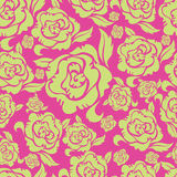 Seamless vintage floral pattern with roses Royalty Free Illustration