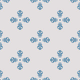 Seamless with vintage floral pattern. Vector illustration Royalty Free Stock Photography