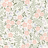 Seamless vintage floral pattern. Vector illustration. Royalty Free Stock Photo