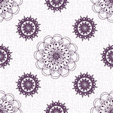 Seamless vintage floral pattern. Seamless white floral pattern with lacy vintage flowers, vector EPS 10 Stock Image