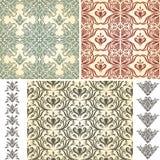 Seamless Vintage Floral Patterns Royalty Free Stock Image