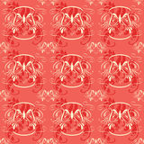 Seamless Vintage Floral Red. Vintage seamless floral pattern, can be used as textile, fabric or wrapping paper Stock Image