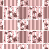 Seamless vintage floral retro colors rose pattern background Royalty Free Stock Photos