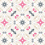 Seamless vintage floral wallpaper Stock Images