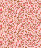Seamless vintage florals pattern background with pink cute flora Royalty Free Stock Photography