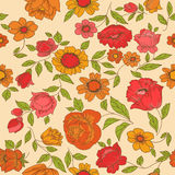Vintage Flower Background Stock Image