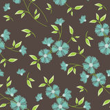 Seamless Vintage Flower Pattern. Against a dark background Royalty Free Stock Photography