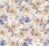 Seamless vintage flower pattern background. Seamless vintage flower pattern color background stock illustration