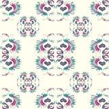 Seamless vintage flower pattern grunge background Stock Photo