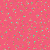 Seamless vintage flower pattern. On pink background Stock Photos