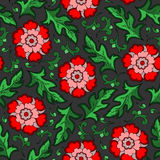 Seamless vintage flower pattern Stock Images
