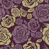 Seamless vintage flower rose pattern Stock Image