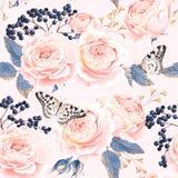 Seamless vintage flowers vector illustration