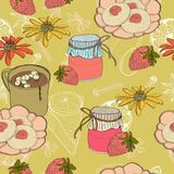 Seamless vintage food background Royalty Free Stock Images