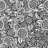 Seamless vintage freehand drawing pattern Stock Photography