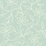 Seamless vintage frolar background. Seamless vintage blue  frolar background Royalty Free Stock Images