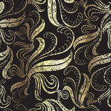 Seamless vintage gold floral pattern Royalty Free Stock Image
